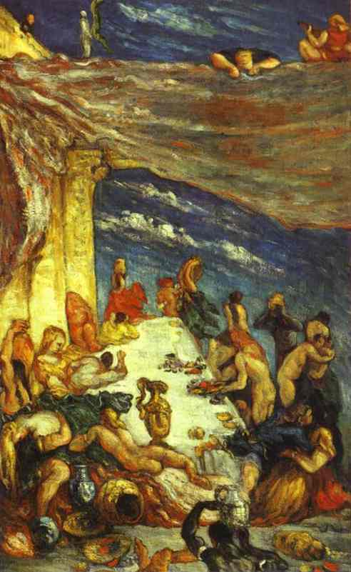 famous painting El banquete of Paul Cezanne