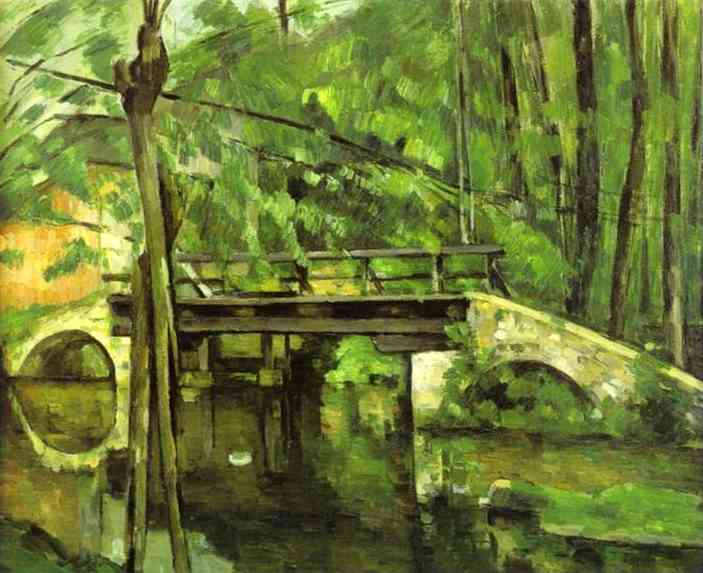 famous painting El Puente de Maincy cerca de Melun of Paul Cezanne
