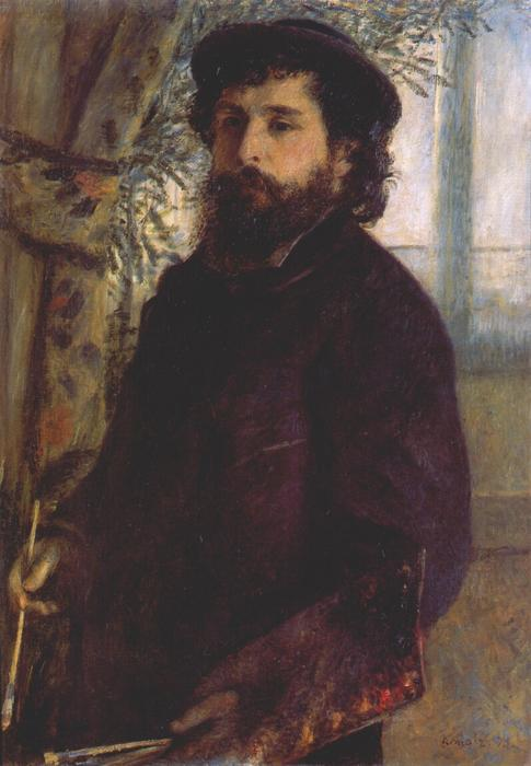 famous painting Botas retrato of Claude Monet of Pierre-Auguste Renoir