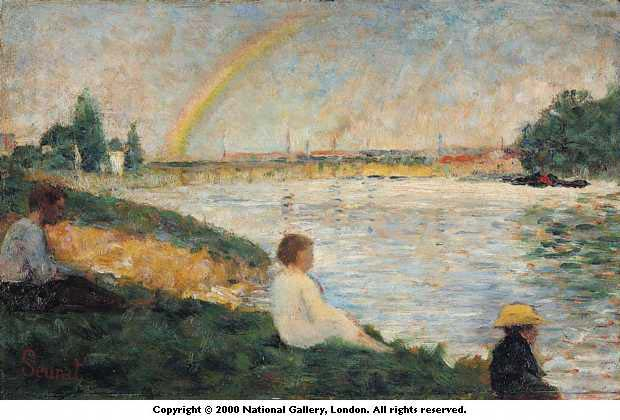 famous painting El arcoiris de 1883 of Georges Pierre Seurat