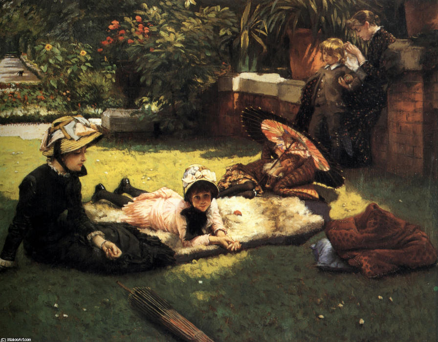famous painting En el Sol of James Jacques Joseph Tissot