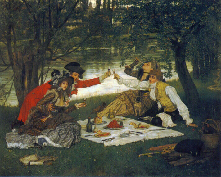 famous painting Partie Carrée of James Jacques Joseph Tissot
