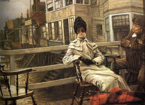 James Jacques Joseph Tissot - esperar el `ferry 1