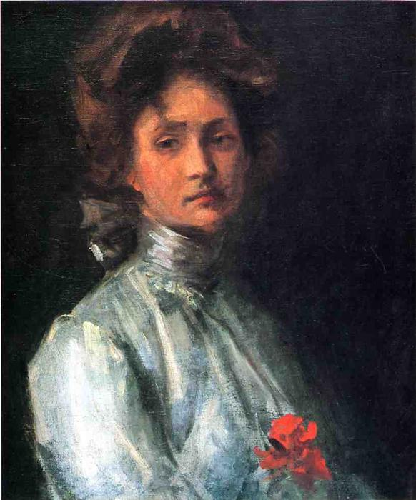 famous painting retrato de un mujer joven of William Merritt Chase