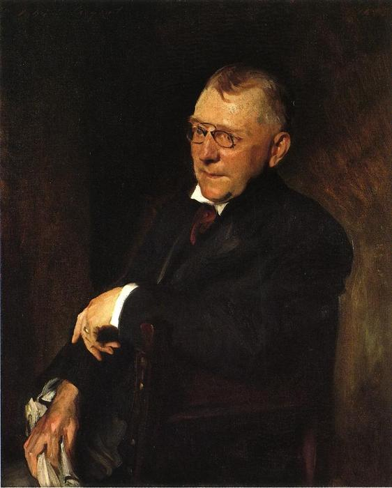 Pedir Reproducciones De Pinturas Impresionista | Retrato de James Whitcomb Riley de William Merritt Chase | TopImpressionists.com