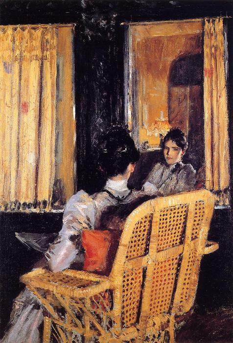 famous painting reflexión of William Merritt Chase