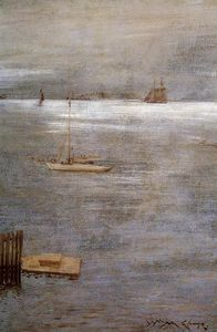 William Merritt Chase - Velero en el ancla