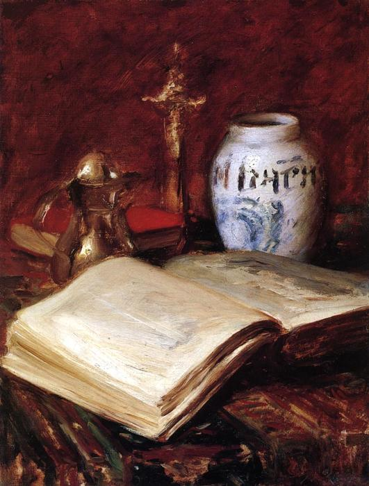 famous painting el viejo libro of William Merritt Chase