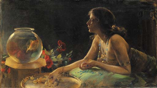 famous painting El Goldfish of Charles Courtney Curran