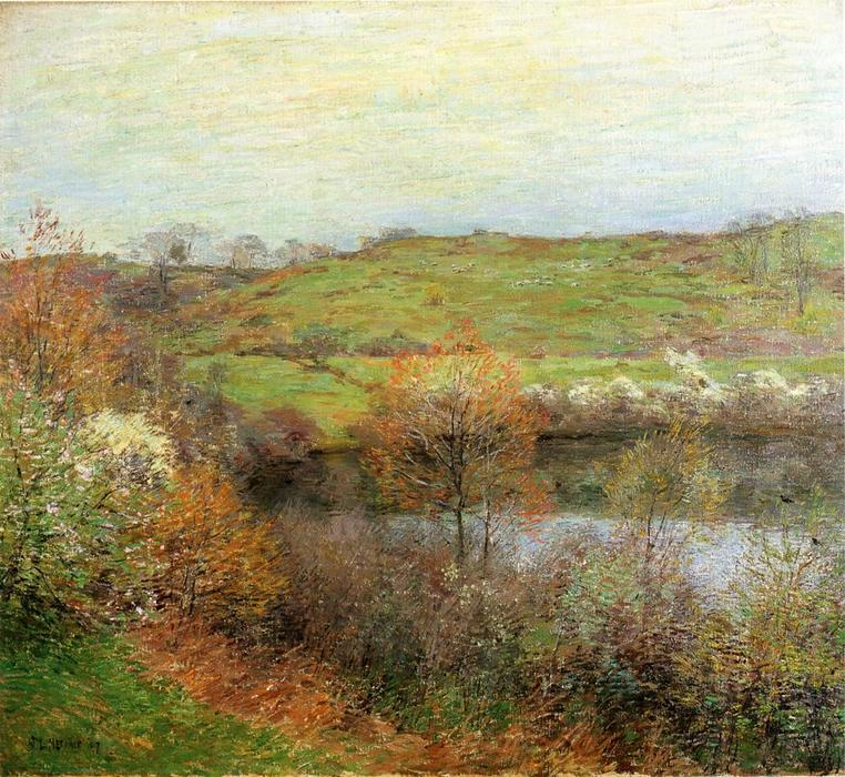 famous painting Brotes y flores of Willard Leroy Metcalf