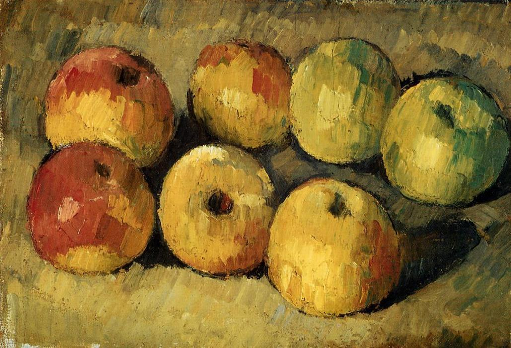 famous painting manzanas of Paul Cezanne