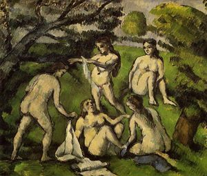 Paul Cezanne - cinco bañistas 1