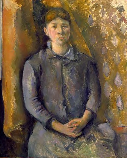 famous painting Retrato de Madame Cézanne of Paul Cezanne