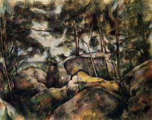 Paul Cezanne - Rocas en Fountainebleau