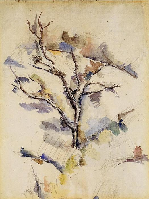 famous painting el roble árbol of Paul Cezanne