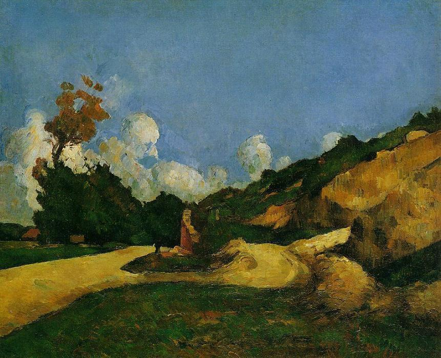 famous painting El Camino of Paul Cezanne
