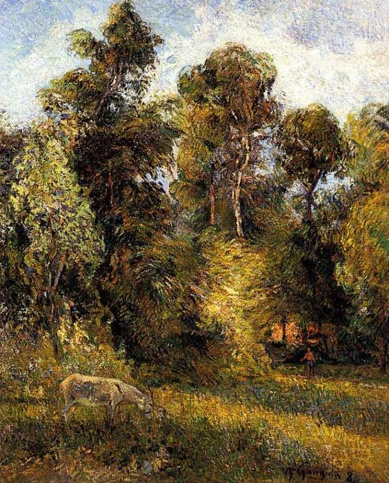 famous painting Forest Edge of Paul Gauguin
