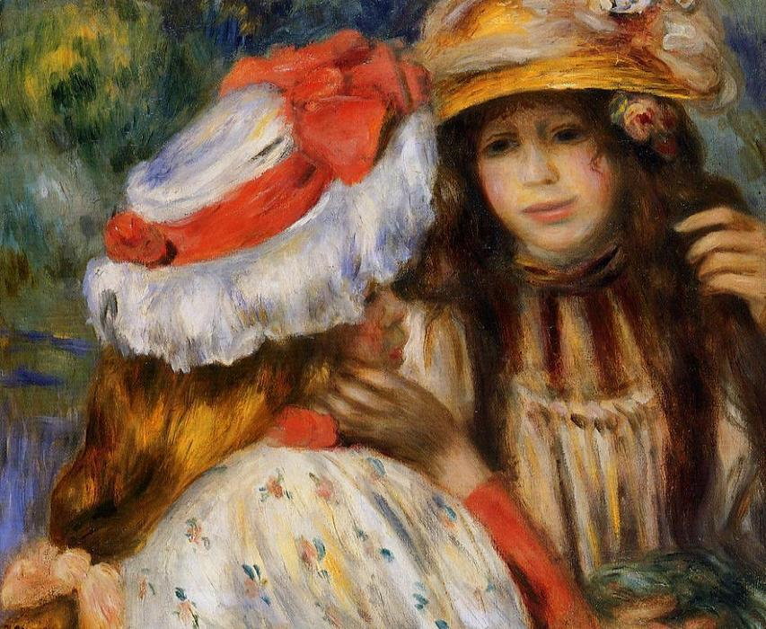 famous painting Dos hermanas 1   of Pierre-Auguste Renoir