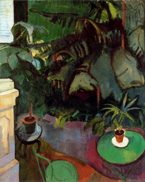 famous painting el invierno jardín of Raoul Dufy