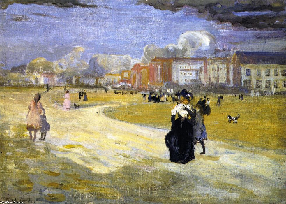 famous painting Dieppe of Charles Edward Conder