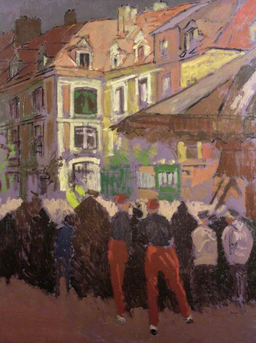 famous painting ExtremoOriente feria Dieppe FRANCIA of Walter Richard Sickert