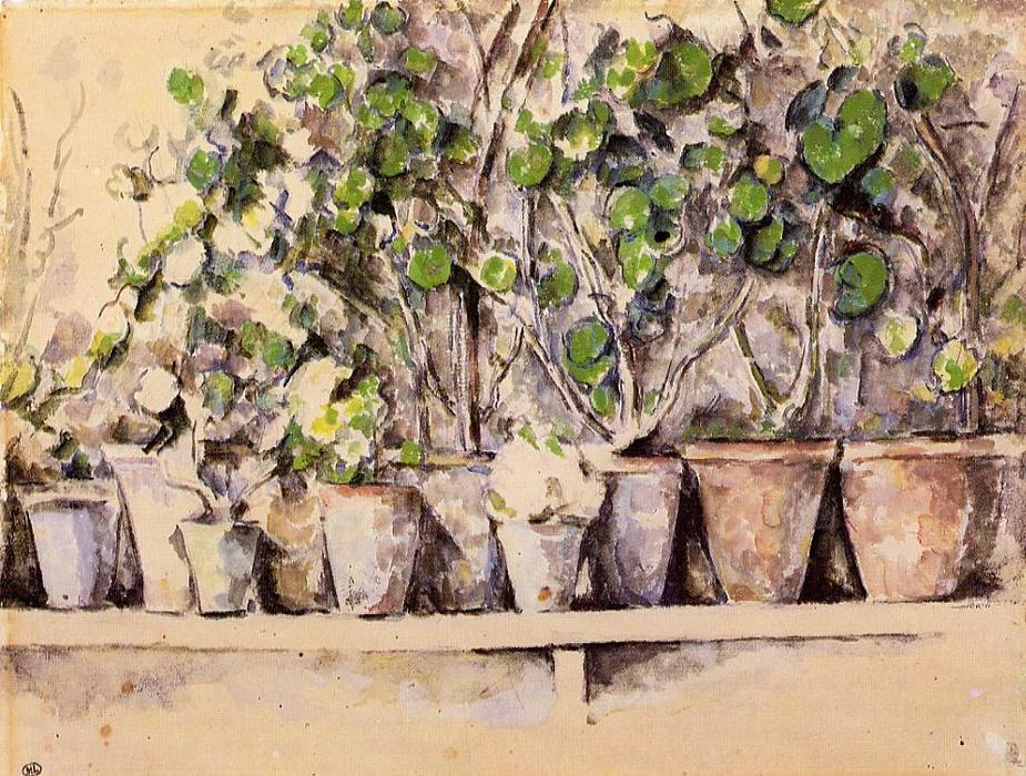 famous painting Macetas of Paul Cezanne