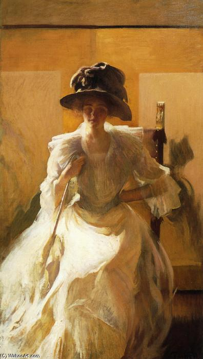 famous painting La pantalla de Oro of Edmund Charles Tarbell
