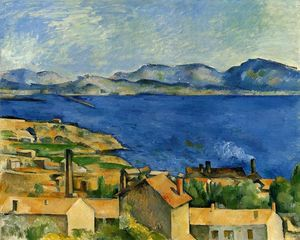 Paul Cezanne - El golfo de Marsella visto de L Estaque