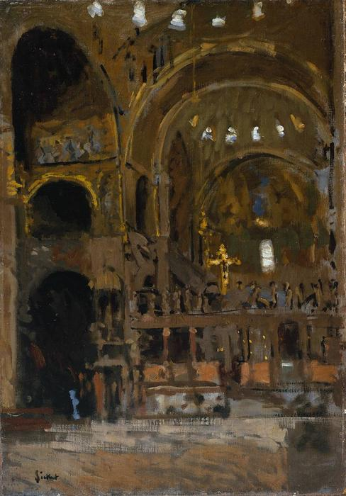 famous painting Interior San Mark's , Venecia of Walter Richard Sickert