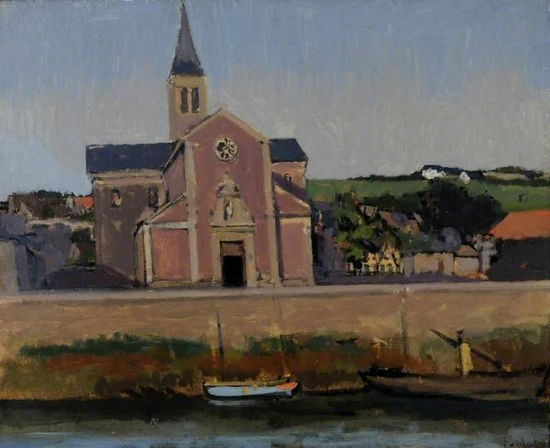 famous painting L Eglise du Pollet, Dieppe, Francia of Walter Richard Sickert