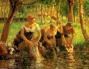 Camille Pissarro - Laundring Mujer. Eragny sur Eptes