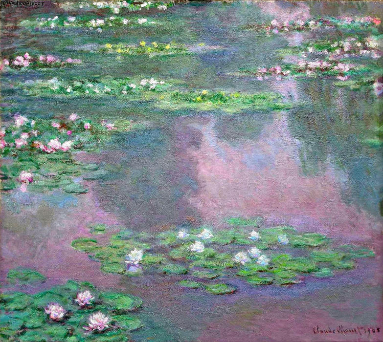 famous painting lirios de agua 14 of Claude Monet