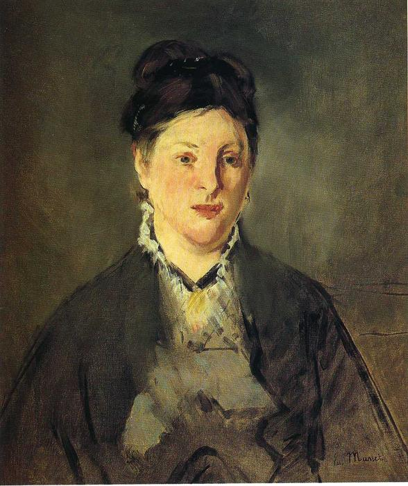 famous painting Retrato de Suzanne Manet of Edouard Manet
