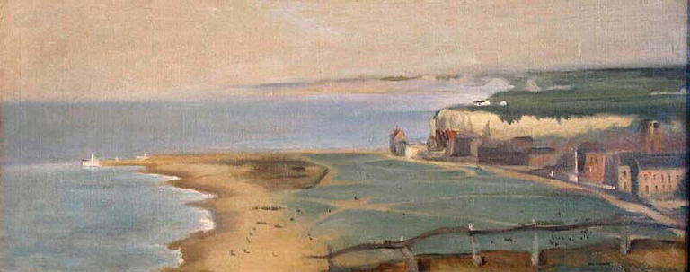famous painting Dieppe Beach View From The West Cliff of Eva Gonzales