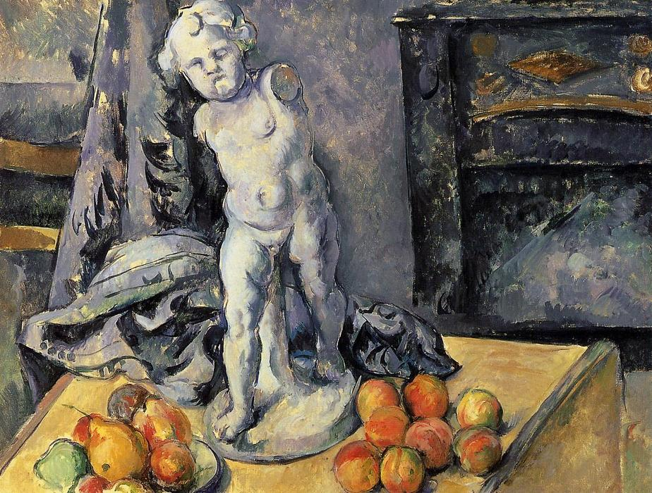 famous painting bodegón con yeso cupido of Paul Cezanne