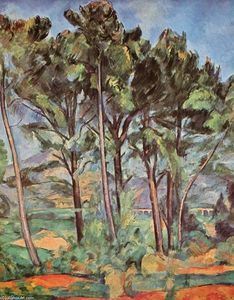 Paul Cezanne - Pino y Acueducto