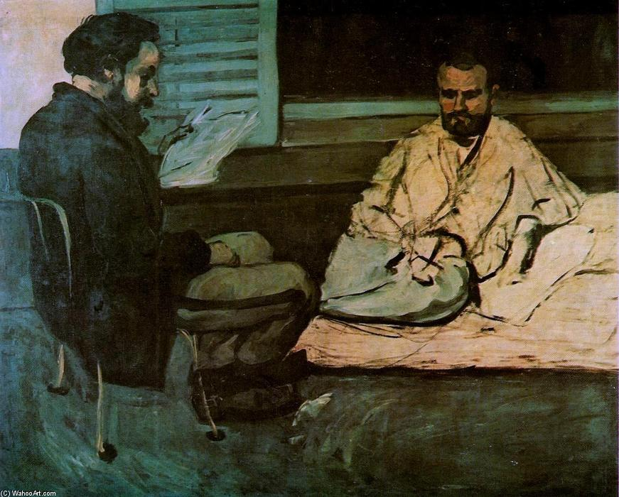 famous painting Paul Alexis que lee un manuscrito a Emile Zola of Paul Cezanne