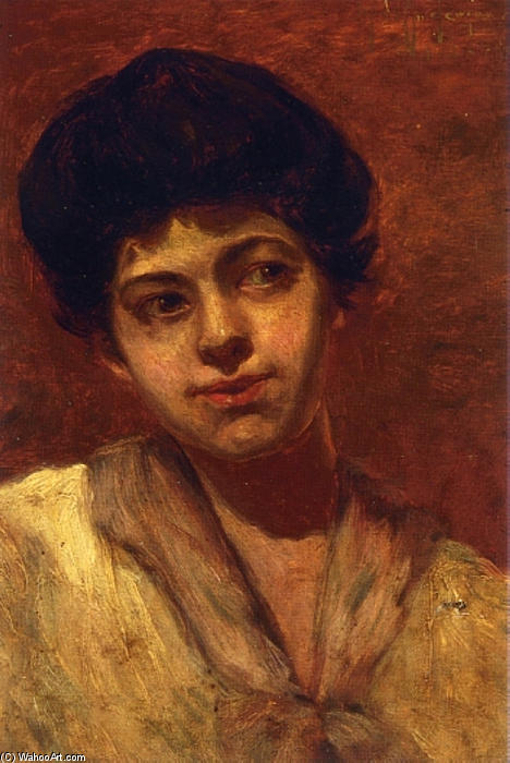 famous painting Retrato de Gertrude of Robert Julian Onderdonk