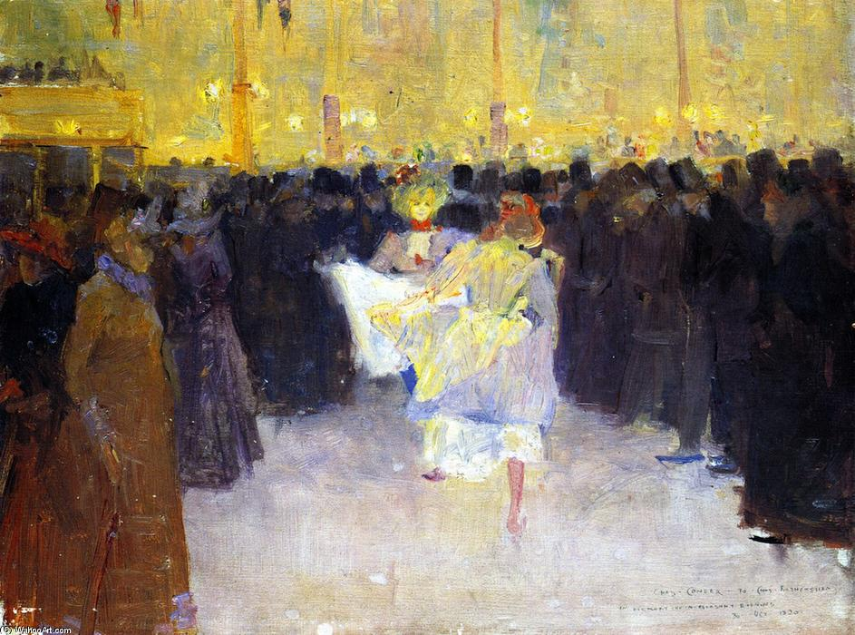 famous painting El Moulin Rouge of Charles Edward Conder