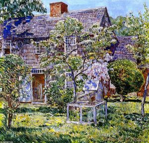 Frederick Childe Hassam - Antiguo Mulford House, East Hampton