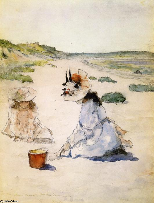 famous painting En la playa, Shinnecock of William Merritt Chase