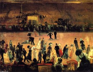 William James Glackens - Roller Pista de Patinaje