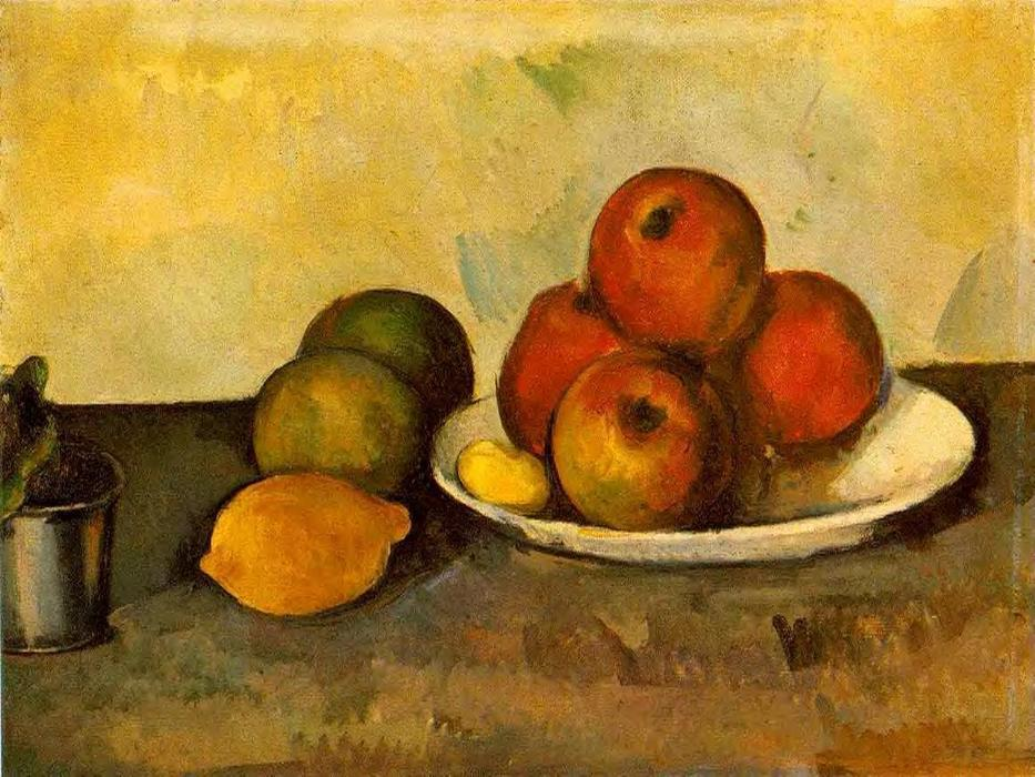 famous painting bodegón con manzanas of Paul Cezanne