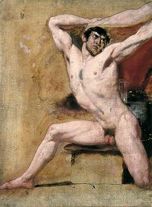 William Etty - Desnudo masculino -