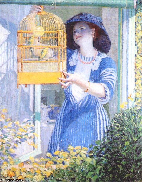 famous painting Ventana Abierta of Frederick Carl Frieseke