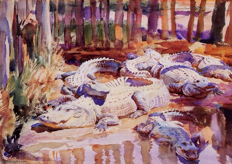 famous painting fangoso caimanes of John Singer Sargent