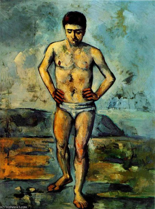 Pedir Grabados De Calidad Del Museo Impresionista | el bather de Paul Cezanne | TopImpressionists.com