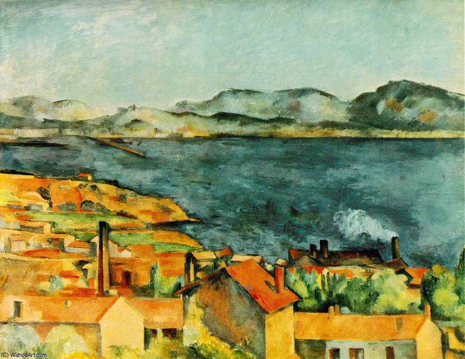 famous painting La Bahía de L Estaque of Paul Cezanne