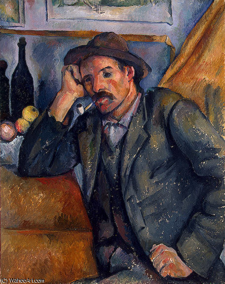 famous painting El fumador , eremitaget of Paul Cezanne