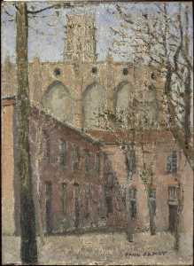 Paul Jamot - L'église des jacobins delaware Toulouse au printemps
